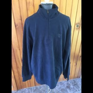 Izod XL blue mock neck pullover sweat shirt
